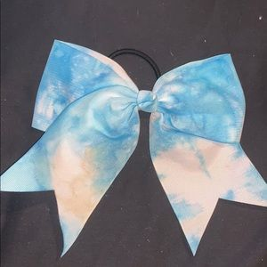 Blue Tye-Dye Bow
